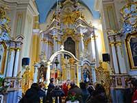 Інтер'єр собору в Ужгороді, програма відпочинку в Закарпатті.