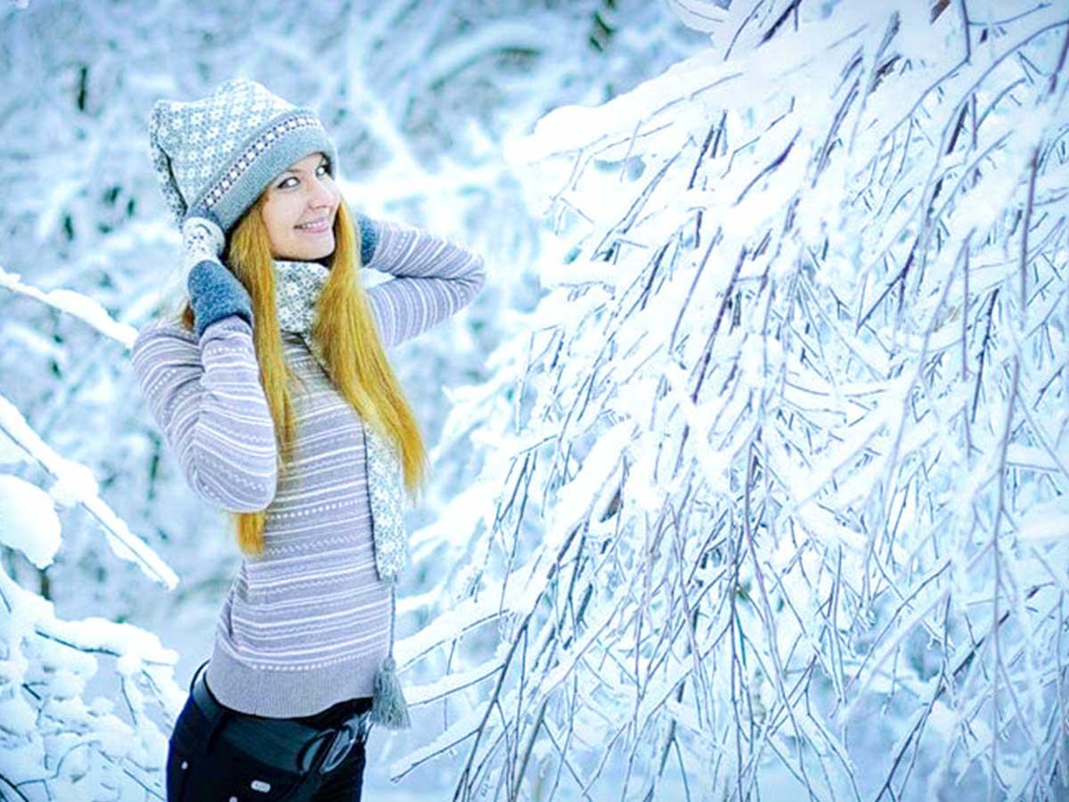правильно фотографироваться на природе зимой