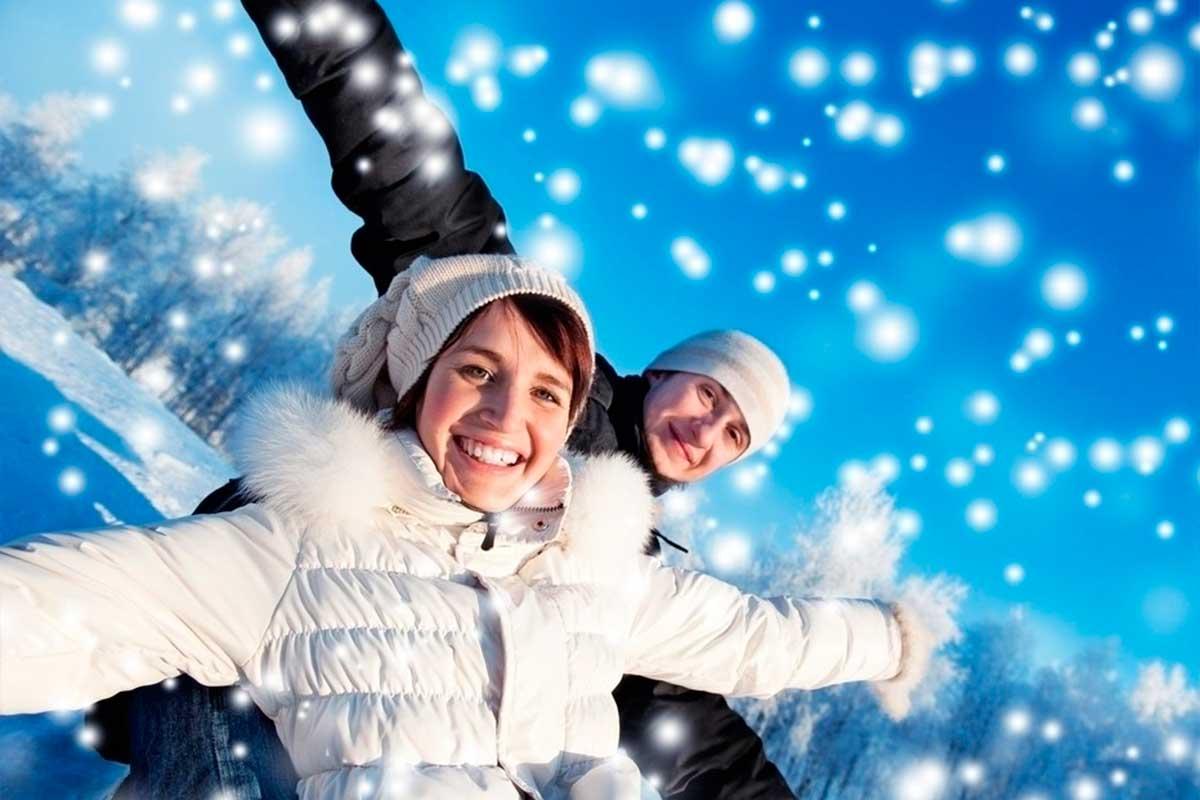 новогодние картинки люди в снегу рецептов