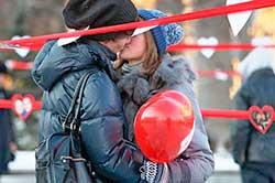 Закохані у Львові на день Валентина